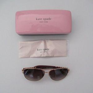Kate Spade Rose Gold Dalia Aviator Sunglasses NIB